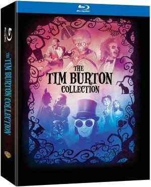This set of seven films from director Tim Burton includes BATMAN, BATMAN RETURNS, BEETLEJUICE, MARS ATTACKS, PEE-WEE'S BIG ADVENTURE, CHARLIE AND THE CHOCOLATE FACTORY, and TIM BURTON'S CORPSE BRIDE.