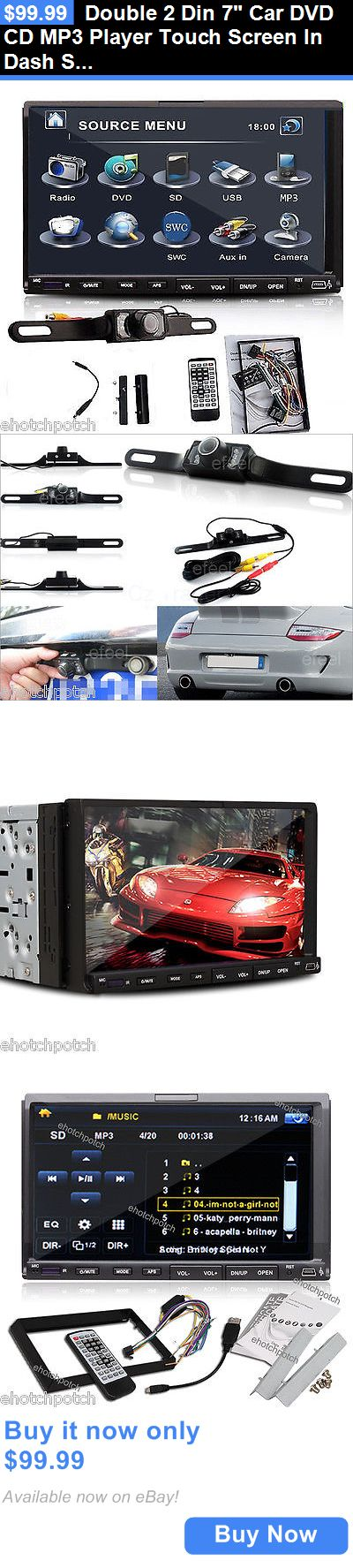 Vehicle Electronics And GPS: Double 2 Din 7 Car Dvd Cd Mp3 Player Touch Screen In Dash Stereo Radio+Camera BUY IT NOW ONLY: $99.99