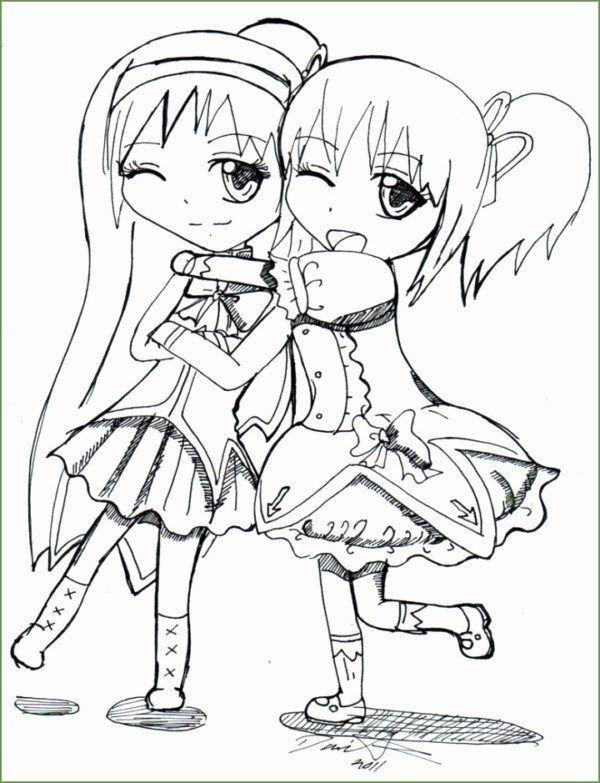 Dibujos De Mejores Amigas Para Colorear E Imprimir Colorear Imagenes Mejores Amigas Dibujo Anime Best Friends Paginas Para Colorear