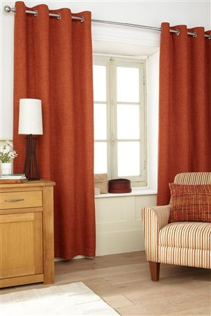 Buy Harrison Orange Eyelet Curtains From The Next UK Online Shop