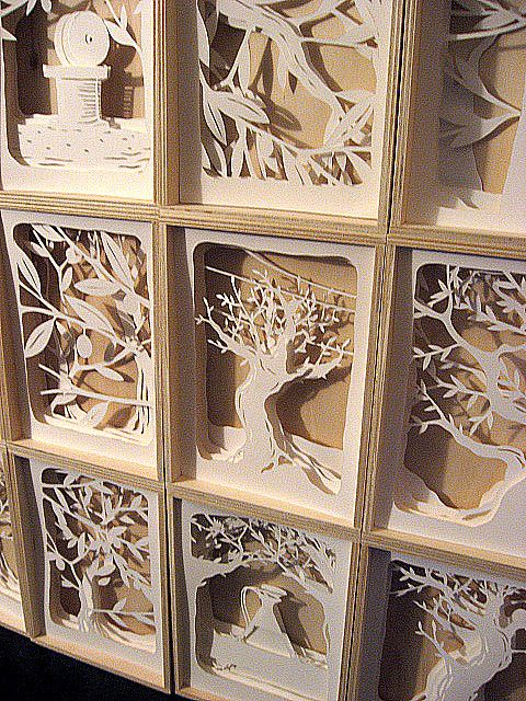 Beautiful paper layer art. I feel like this should be my next project!