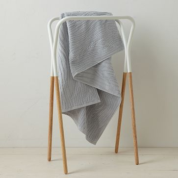 Modern Two-Tone Towel Rack from West Elm. Is this too small to hold lap blankets in the living room?