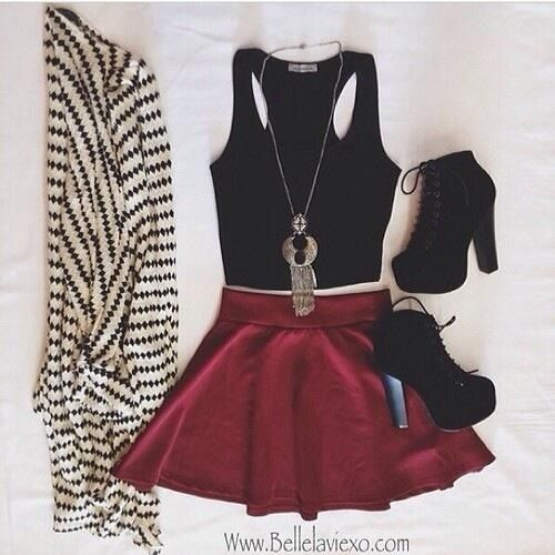 17 Best images about Outfits with skater skirts on Pinterest | Scubas Sexy skirt and Skirts
