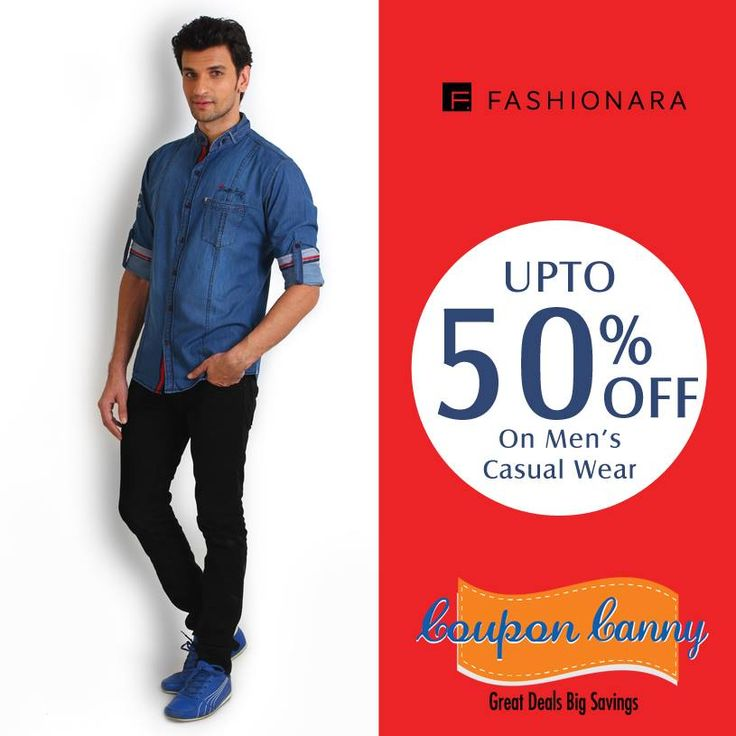 Upto 50% off on #Men Casual Wear at #Fashionara! Claim Now : http://www.couponcanny.in/fashionara-coupons/