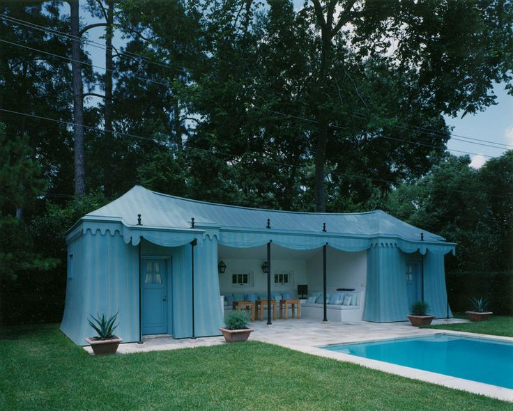 tented pool cabana curtis windham architects house tentpool cabana outdoor