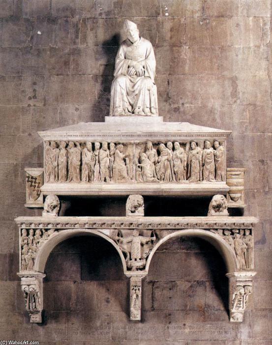 Monumento del obispo Antonio degli Orsi (1321), Florencia. Tino Di Camaino. -Gótico italiano.
