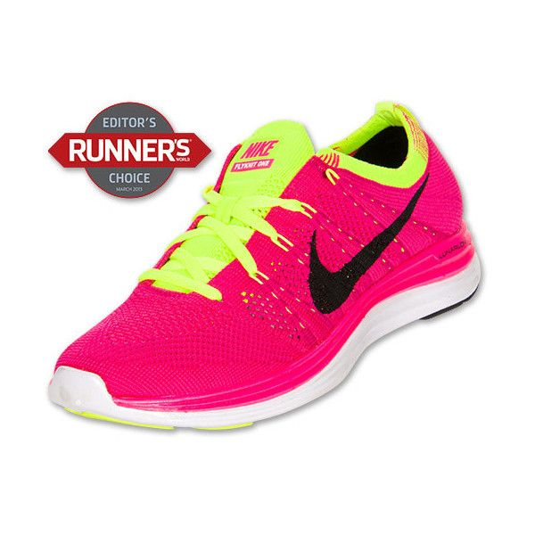 best loved bbf42 5db5f ... Women s Nike Flyknit Lunar 1+ Running Shoes - Polyvore ...