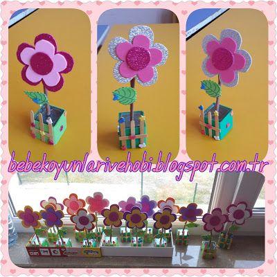 Elifce Bebek Oyunları ve Hobi: öğretmenler gunu hediyelerim (eva ile çiçek şeklin...