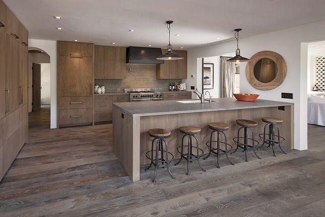 187 Remodeled Modern Hacienda White Oak Kitchen Cabinets