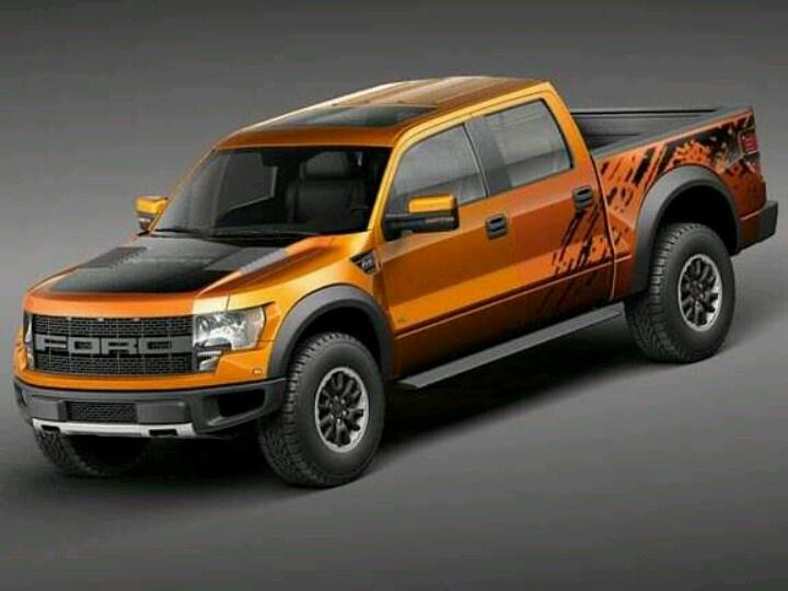 2013 Ford Raptor Burnt Orange/Black....ahhhh dream truck!!! <3