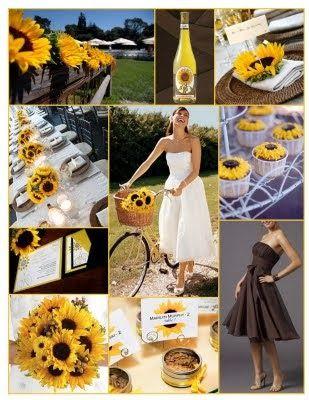 Sunflower Wedding Theme - http://simpleweddingstuff.blogspot.com/2014/02/sunflower-wedding-theme.html
