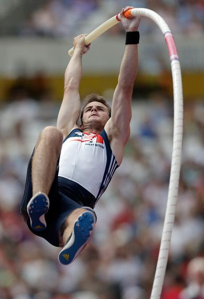 Luke Cutts Photos Photos - Luke Cutts of Great Britain competes in the Men's Pole Vault during day two of the Sainsbury's Anniversary Games - IAAF Diamond League 2013 at The Queen Elizabeth Olympic Park on July 27, 2013 in London, England. - Sainsbury's Anniversary Games - IAAF Diamond League 2013: Day Two