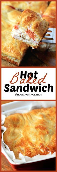 Hot Baked Sandwich by Noshing With The Nolands would be a great sandwich for game day, brunch, lunch or dinner!