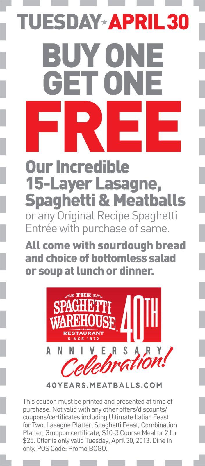 Kirklands coupons december 2013 - Spaghetti Warehouse Coupon Spaghetti Warehouse Promo Code From The Coupons App Second Lasagna Or Spaghetti Meal Free Tuesday At Spaghetti Warehouse