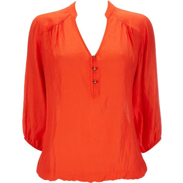 Orange Blouse ($46) found on Polyvore