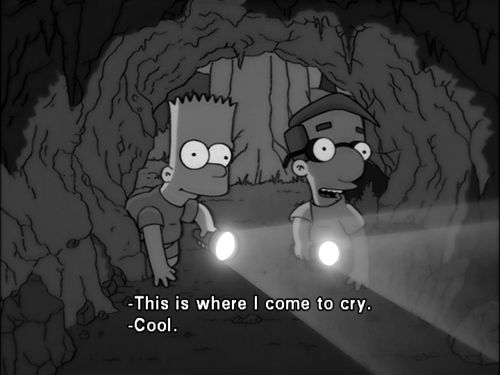 aesthetic , black and white , cartoon , Simpson , friends ...