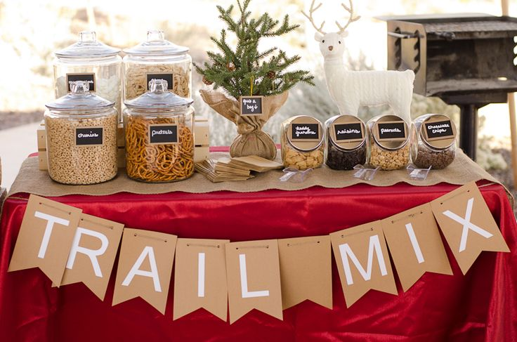Trail Mix Bar #party #winter