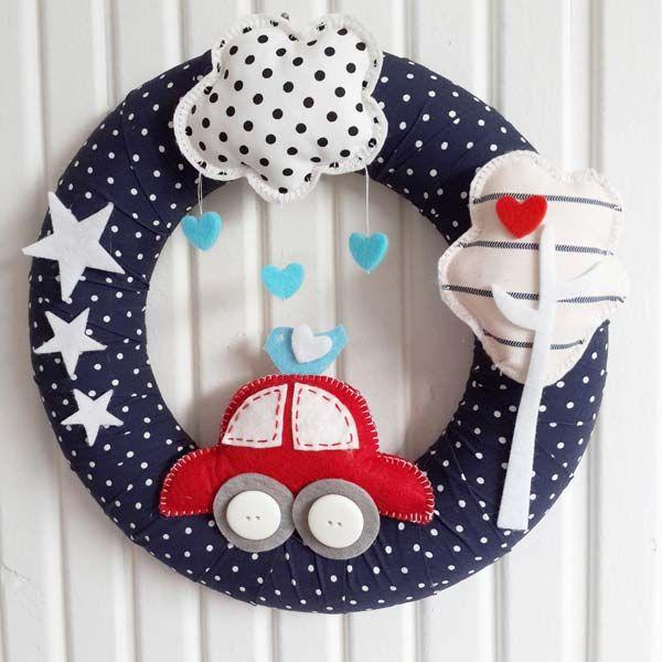 Erkek bebek odası için dekorasyon önerileri kapı süsü