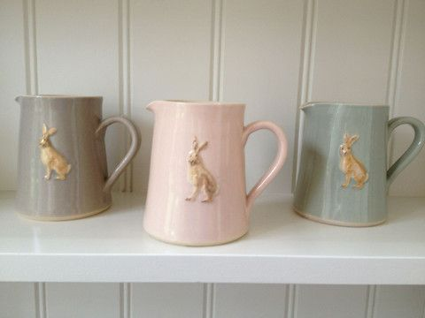 Jane Hogben Hare Jugs ~ More Jane Hogben! I love these.