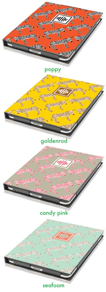 Nico and Lala Zebra iPad Cover: Monograms Zebras, Gifts Ideas, Zebras Ipad, Ipad Cases, Accessories Necessities, Lala Zebras, Ipad Covers, Zebras Prints, Lala Ipad