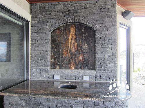 Thunderstone Quarries Black Rundle Natural Stone from Kodiak Mountain Stone. www.KodiakMountain.com