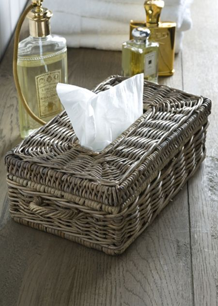 €39,95 Rustic Rattan Tissue Box Holder #living #interior #rivieramaison