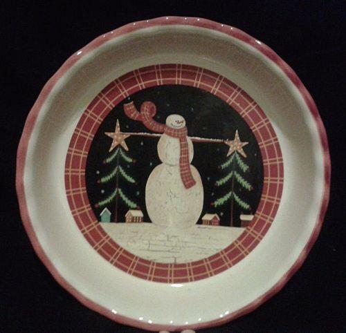 Christmas-Holidays-Casserole-Baking-Serving-Dish-Snowman-Karen-Cruden-Art