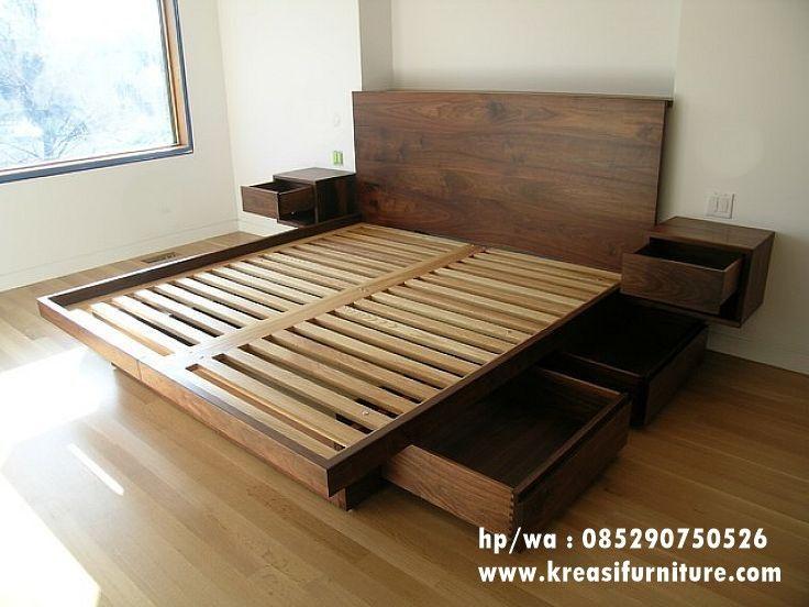 Tempat Tidur Minimalis Mewah Jati Solid Kreasi Furniture Jepara Bingkai Tempat Tidur Desain Tempat Tidur Kayu Tempat Tidur Dengan Penyimpanan