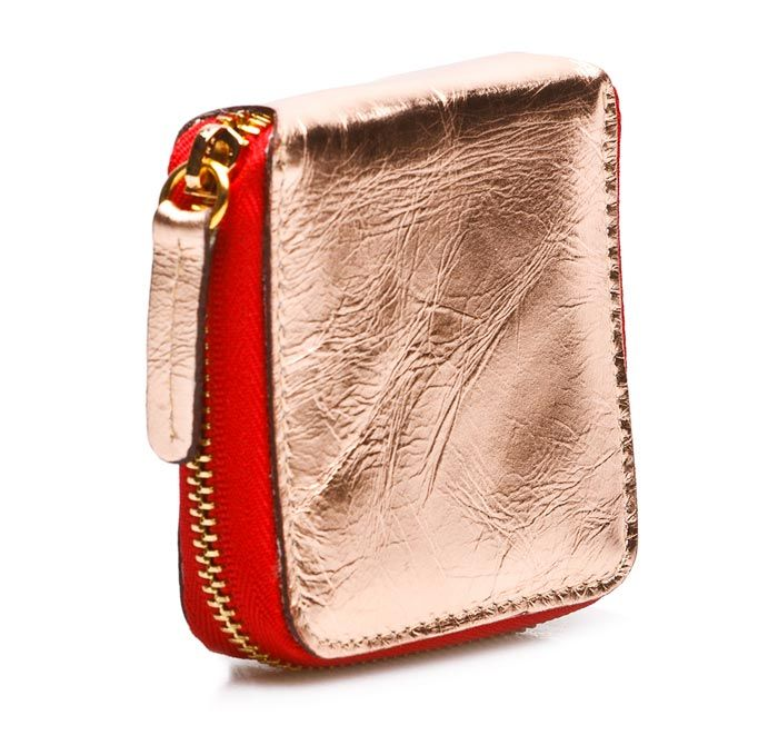 TAXIDERMY Coin Wallet - Metallic Pink.    Cool & compact coin pouch. Coordinates with larger wallets by TAXIDERMY.     Available in a range of colours.    Measures (closed): 8cm square.