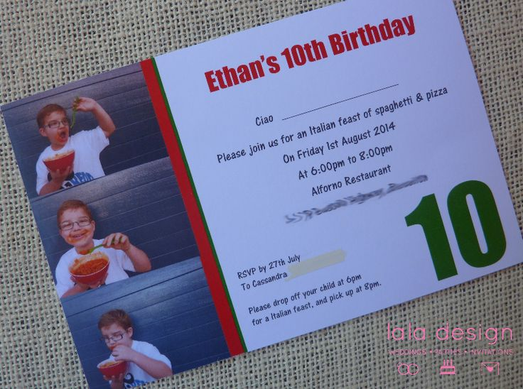 Ethan 10th Birthday