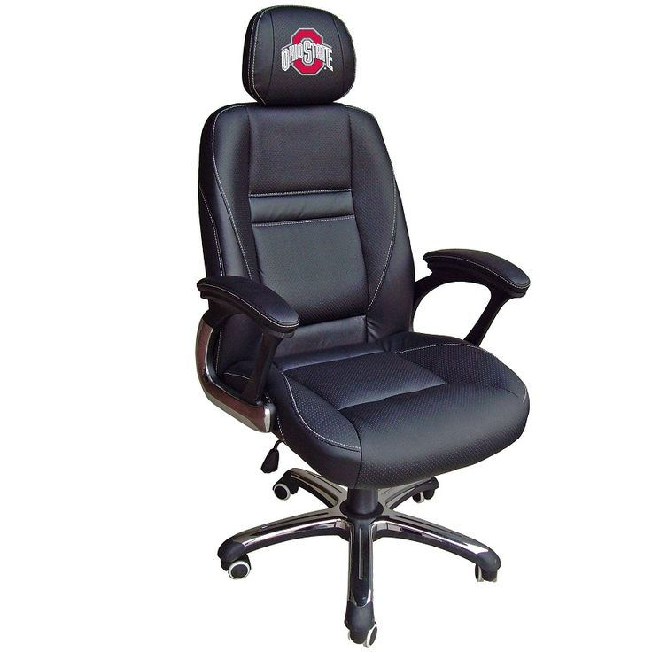 Ohio State Buckeyes Leather Office Chair