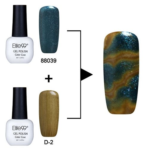 Elite99 8ml Soak Off UV LED Changeable Polish UV lamp are needed Halo effect Nail Polish Hot-selling Dizzy Lacquer 2pc
