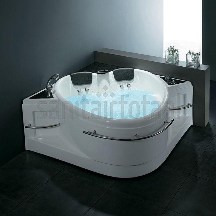 ... badkamer ideeen, whirlpool badkamer, indoor jacuzzi, hartvormig