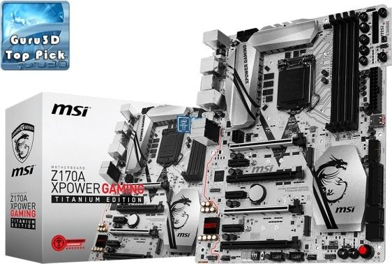 MSI Z170A XPOWER GAMING TITANIUM EDITION Intel Z170 LGA1151 ATX-emolevy
