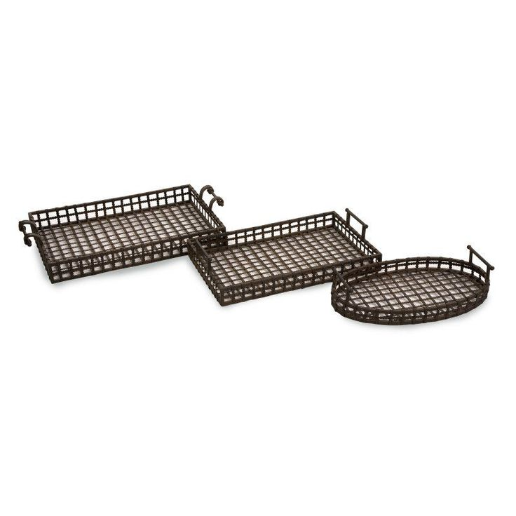 IMAX Urban Iron Trays - Set of 3 - 10815-3