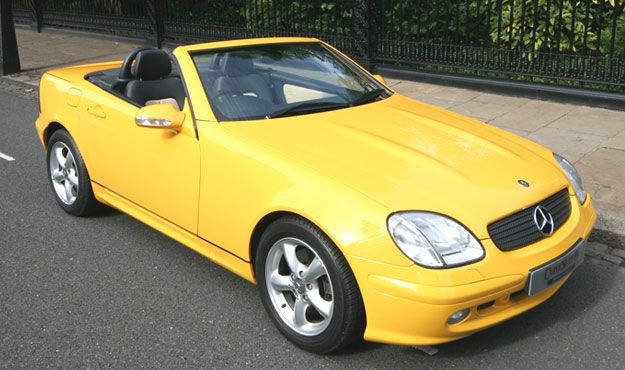 Mercedes Benz SLK 320 -- this is close too, but a bit brighter yellow ... and  again the $$bucks$$ ... Deej.