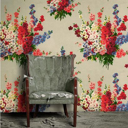 Woodstock Rose Wallpaper by Cath Kidston. Find more ideas at Redonline.co.uk