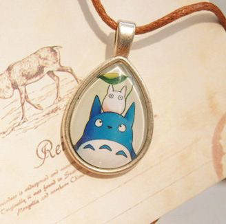 Totoro Silver Plated Pendant Necklace //Price: $8.95 & FREE Shipping //     #totorostuff