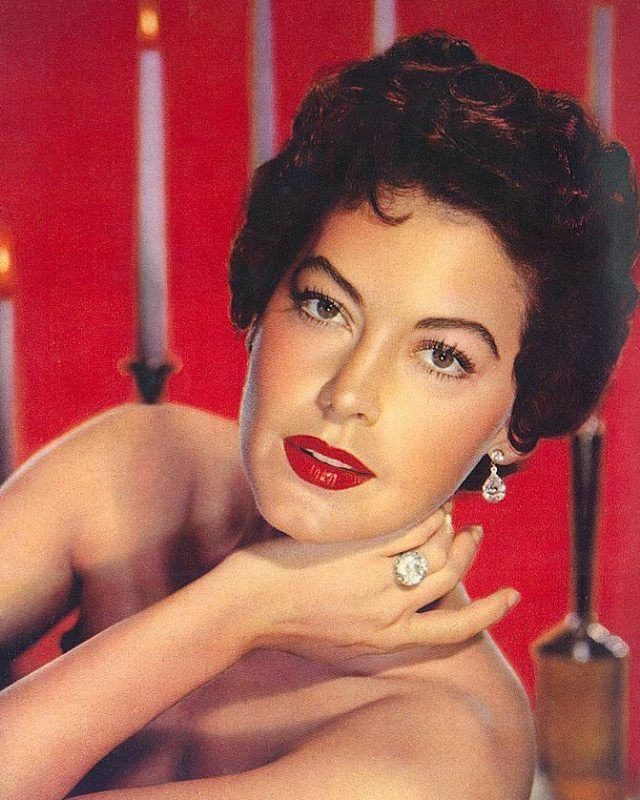 American actress Ava Gardner, in a portrait from the December 1953 edition of Japanese movie magazine, Eiga no Tomo.