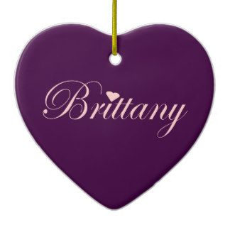 Pink and purple Brittany with a Heart Ornament. add text or photo for that special touch. $21.95