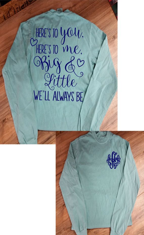 Big & Little Sorority Comfort Color Long by HeadSouthApparel