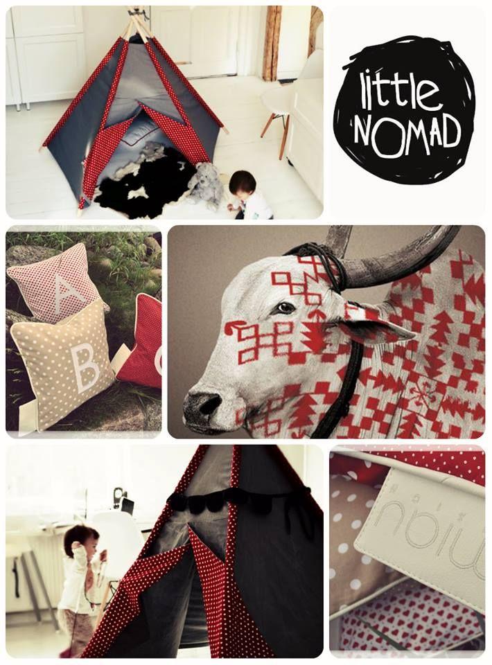 TEEPEE LittleNOMAD and MIAU Design pillows