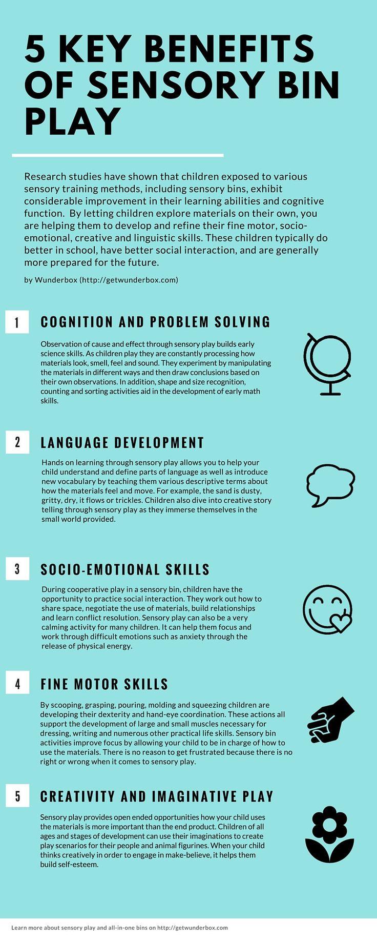 5 Key Benefits of Sensory Bin Play - Infographic