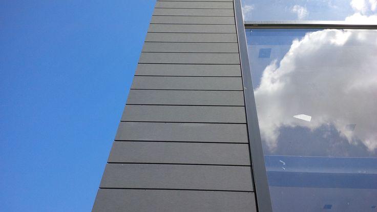 Located: Erin Mills and Eglinton Ave. Product: Eternit Fibre Cement (Tectiva TE80 Graphite Grey ) EngineeredAssemblies.com