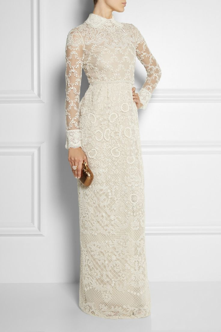 Valentino | Beaded tulle gown | NET-A-PORTER.COM