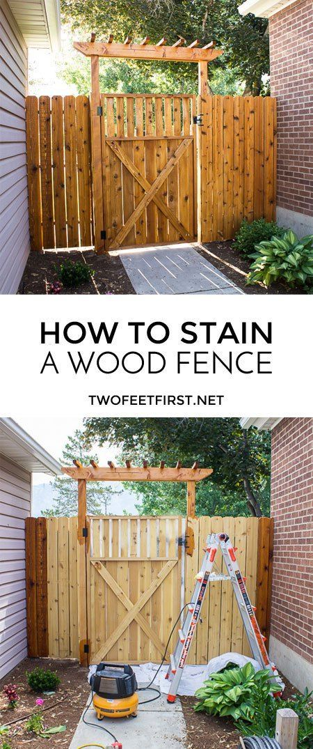 TwoFeetFirst – How to Stain a Fence with Ready Seal