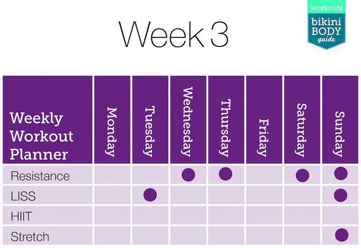 EN: Kayla Itsines my workout plan for Week 3 including ...