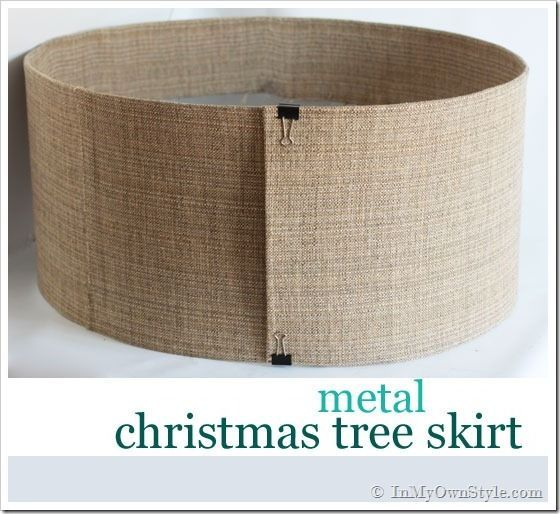 How to Make a Christmas Tree Stand Cover With Metal and Fabric | In My Own Style http://inmyownstyle.com/2012/11/metal-christmas-tree-skirt.html Great idea