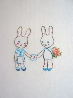 Bunnies in Love - PDF Embroidery Pattern