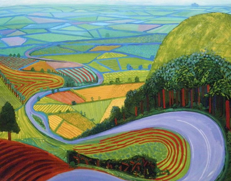David Hockney, Garrowby Hill, one of his later Yorkshire landscapes
